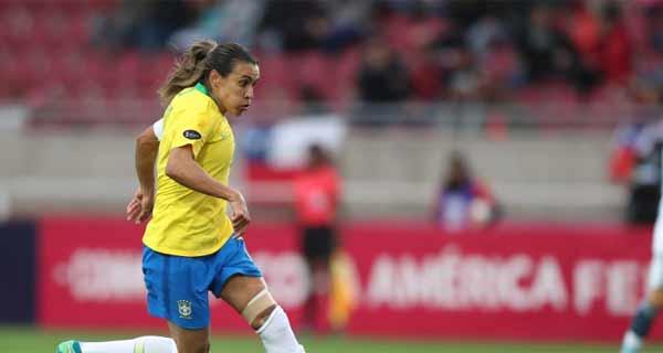 Foto de Marta, da Seleção Brasileira